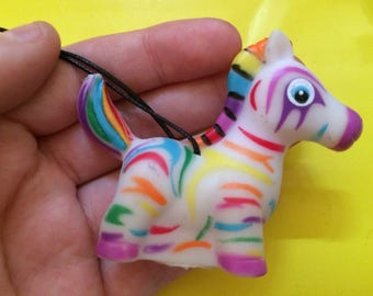 Rubber Unicorn Necklace