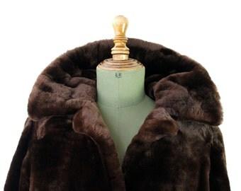 Vintage Golden Brown Mouton Coat