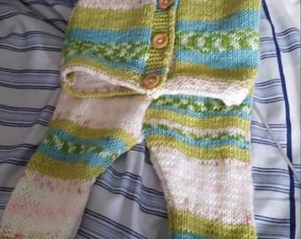 Baby girls cardigan and leggings