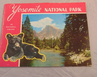 Vintage Yosemite National Park Catalog Brochure 25 Pages of Attractions