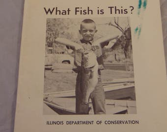 Vintage State of Illinois Dept of Conservation What Fish is This? Educational Booklet