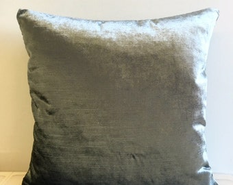 Smokey Green Velvet Pillow Cover Pillow Velvet Green Pillow Designer Pillow Velvet Pillows Velvet Cushion Covers Smokey Green Sofa Pillow
