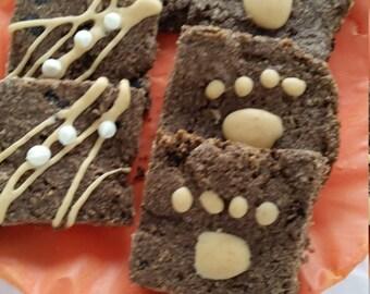 Carob dog brownies
