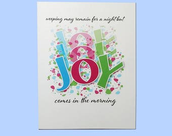 Joy Psalm 30 Encouragement Card//Christian Card//Blank Notecard//Blank Greeting Card//Inspirational Card//Scripture Verse Card
