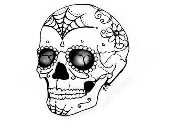 Sugar Skull Coloring Page (Digital Download)