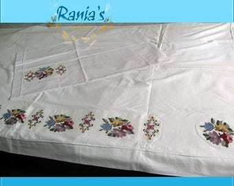 Single bed linen and pillowcase
