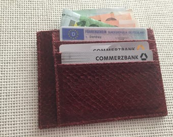 Fish leather credit card holder credit card business card holder - wallet purse wallet card holder fish leather card holder