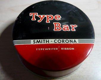 Vintage Smith Corona TYPE BAR Black-Red Record Medium Ink Tin Plus empty Spool