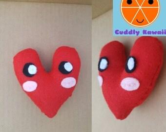 Heart Plushie, Heart Stuffed Animal, Kawaii Heart, Adorable Heart Plushie, Heart Stuffed Toy