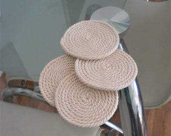 Rope coasters drink coasters coasters glas coasters handmade coasters handmade home decor