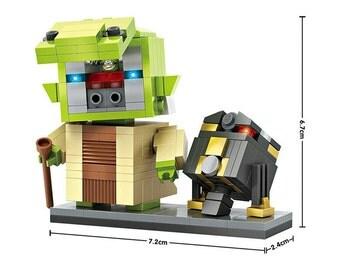 Loz Mini Blocks Star Wars Yoda and Droid Figures
