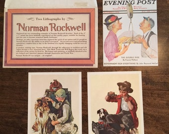 Norman Rockwell  Lithographs + Envelope