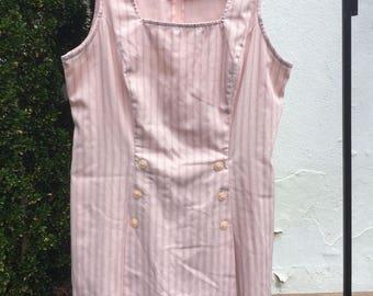 Vintage 80s/90s Pink Striped Skort Romper