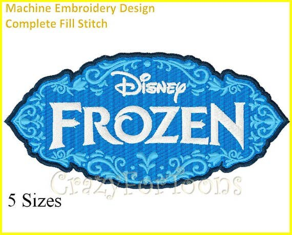 FROZEN Logo EMBROIDERY DESIGNS All formats from ...
