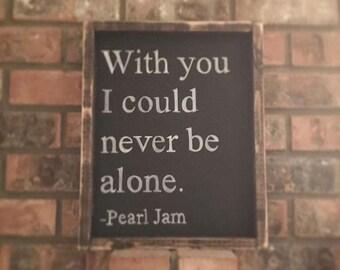 Song Lyrics Framed Wood Sign