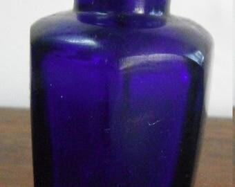 Seven Sided Cobalt Blue Snuff Bottle