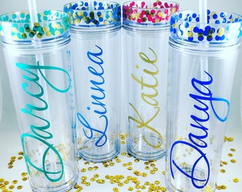 Personalized Tumbler,Bridesmaids Gift,Custom Tumbler,Bridesmaid Tumbler,Wedding Tumbler,Personalized Tumbler with Straw,Bridal Party,Gifts