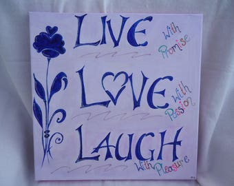 Live - Love - Laugh - Wall Painting