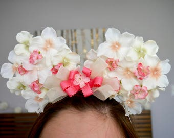 Spring Time floral Minnie Ears | Mickey Ears |