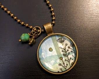 Watercolor pendant