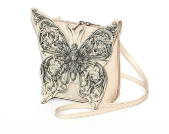 Leather Butterfly Cross Bag