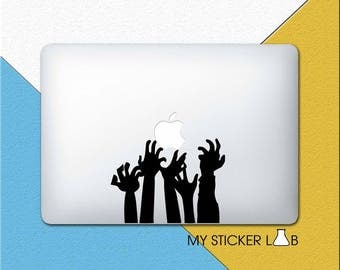 Zombie MacBook Decal The Walking Dead MacBook Sticker Resident Evil Decal Zombie Hands Decal Undead Zombies Laptop Decal Vinyl Shadow m800
