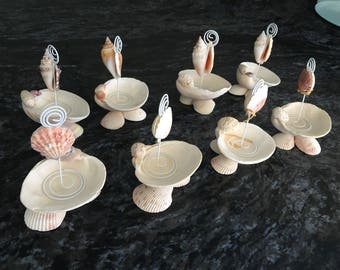 Table number holders for Beach Wedding