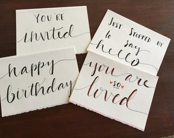 Calligraphy Cards for Any Occasion