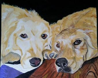 Custom Painted Pet Portrait 11x 14
