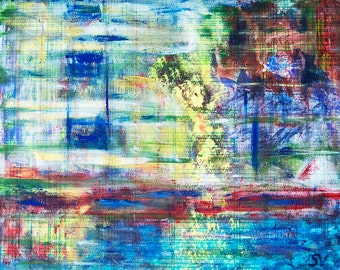 In the Light, 2013 // Original acrylic painting by Sanda Vo // Bright Colorful Mood Artwork