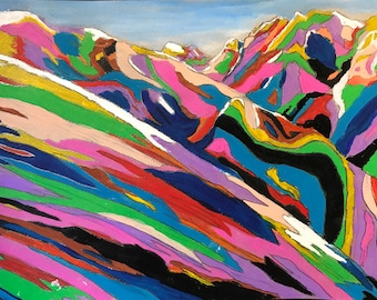 Acid Mountains - Original Acrylic