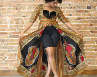 Split Dashiki Dress