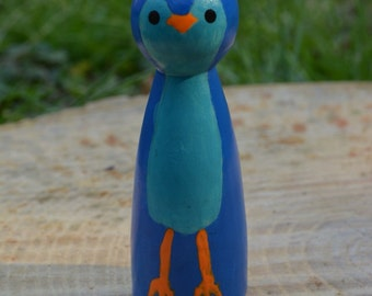 Blue Bird Peg Doll