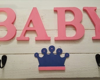 Crafted Baby Princess Sign with Apparel Hooks