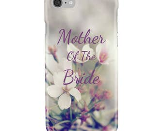 Personalised Wedding, Mother of the Bride or Bride to Be - Pink White - Protective Glossy Phone Cover Case - iPhone iP Samsung Galaxy GS