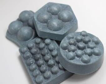 Berry Sweet Handmade Soap Massage Bar - Berry Blue