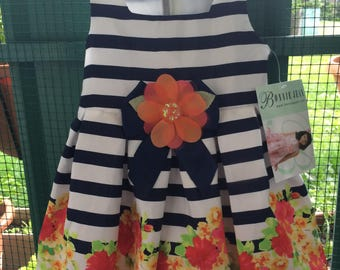 Dress girl from 1 to 2 years for birthday, ceremony, party, summer
