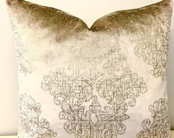 Luxury Beige Velvet Pillow Cover, Velvet Pillow, Beige Pillow, Velvet Cushion, Decorative Throw Pillows, Beige Velvet Pillow Case Covers