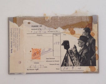 Photographic // original collage on book cover art // retro 1950s UK seller