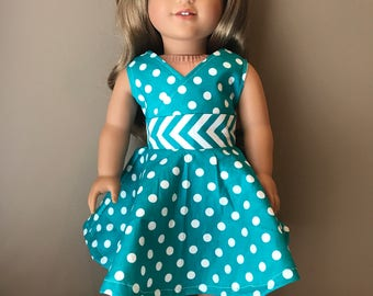 """18"""" Doll Sundress with Matching Hair Clip"""