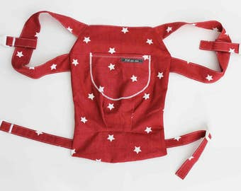 Doll Carry/Doll backpack star Red
