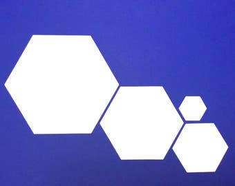 Blank HEXAGONAL cards - different sets of white, blank, 300g hex cards for prototyping your tabletop game. Other card shapes available!
