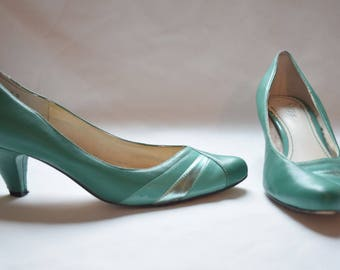 The Miriam - green vintage high heel shoes