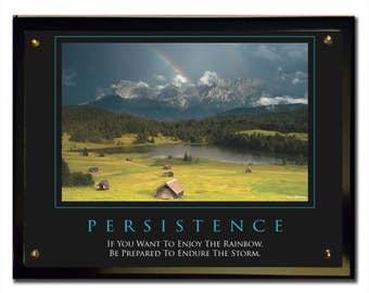 Persistence (Rainbow) Plaque