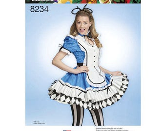 Simplicity 8234 Disney Themed Costumes for ALICE in Wonderland Cosplay - Women Size 6-14/H5  OR 14-22/R5