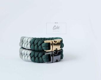 Couple Series Paracord Bracelet- Dark Green