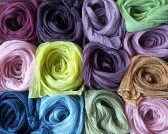 Handmade Dyed Silk Scarves Natural color