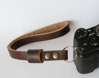 Leather Camera Hand Strap, Camera Wrist Strap,Custom Camera Strap
