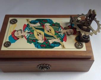 Box wood tarot card game box