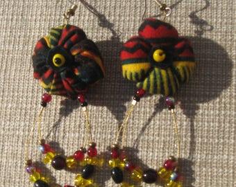 Tissues Wax earrings